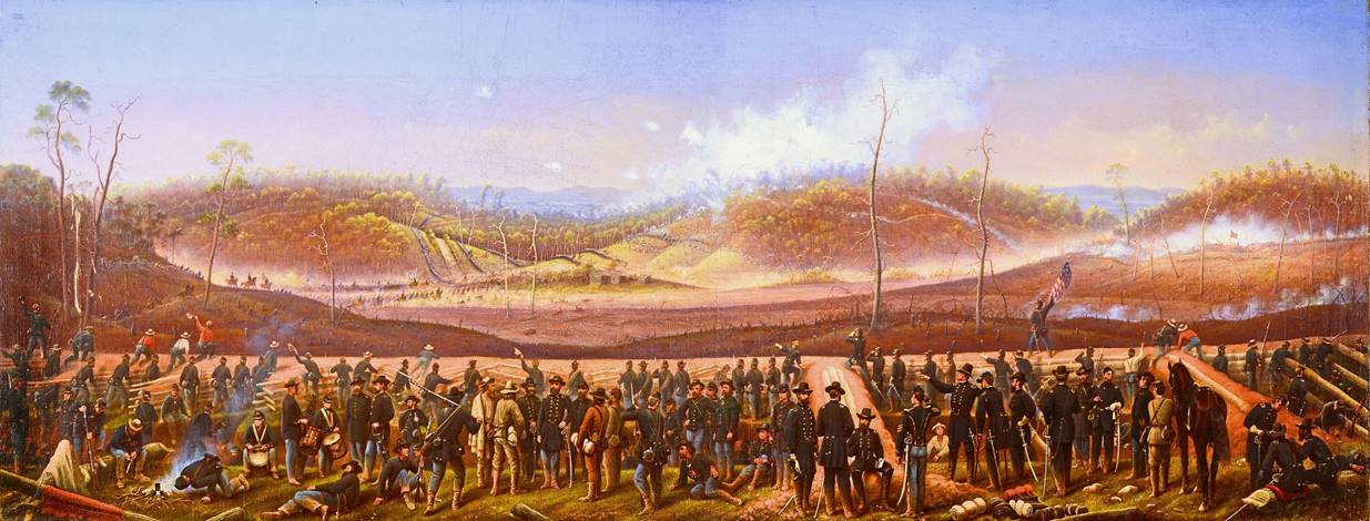 James Walker Painting of The Battle of Resaca